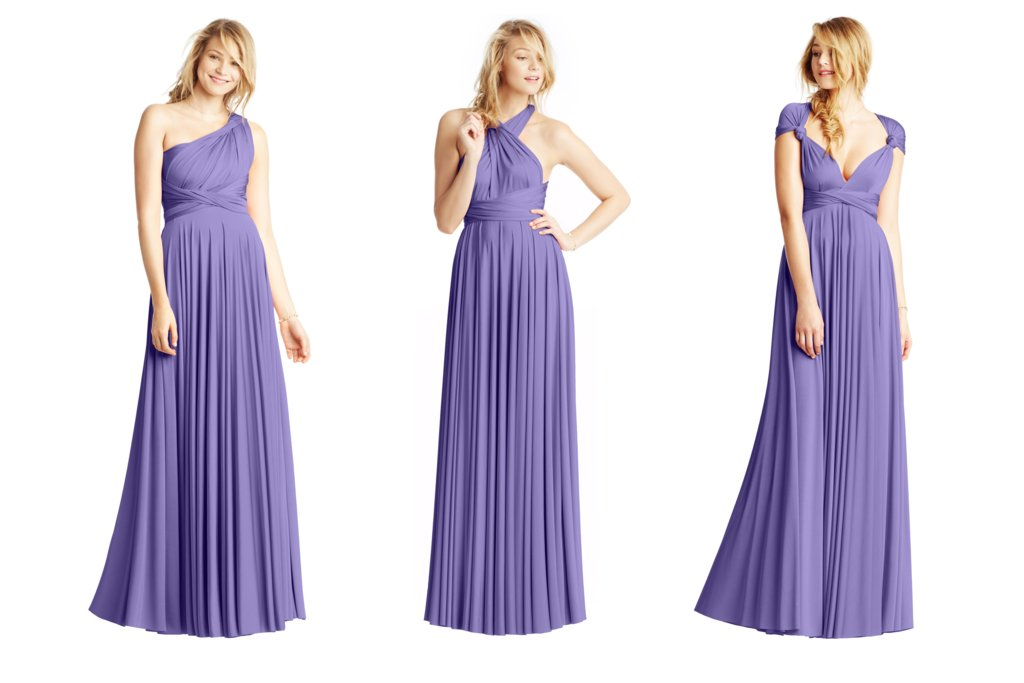 Bridesmaid Dresses by Two Birds violet