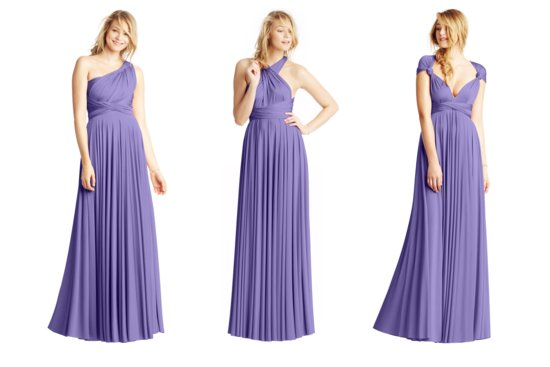 Convertible Bridesmaid Dresses by Two Birds violet