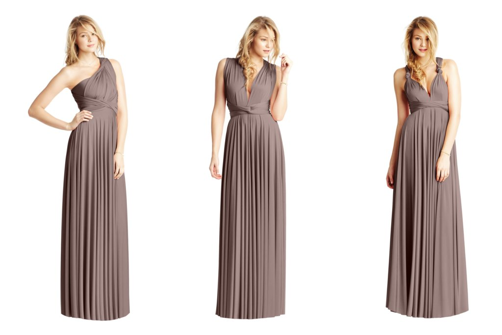 845de8a4778 Convertible Bridesmaid Dresses by Two Birds taupe