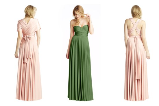 Convertible Bridesmaid Dresses by Two Birds taupe
