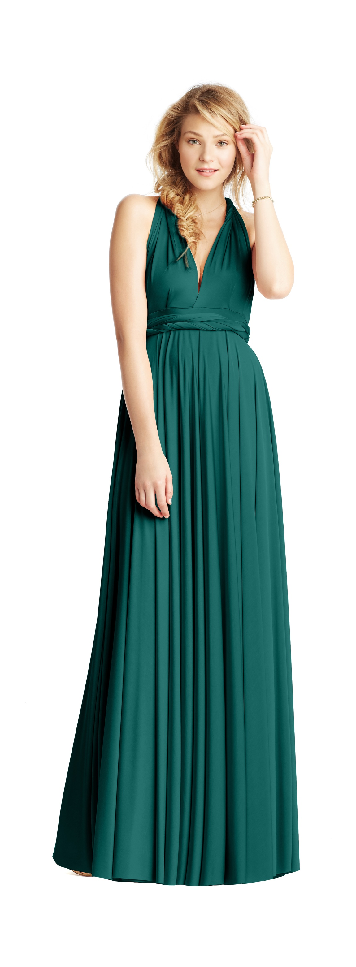 Two birds bridesmaid dress 2013 weddings deep teal for Teal dress for wedding