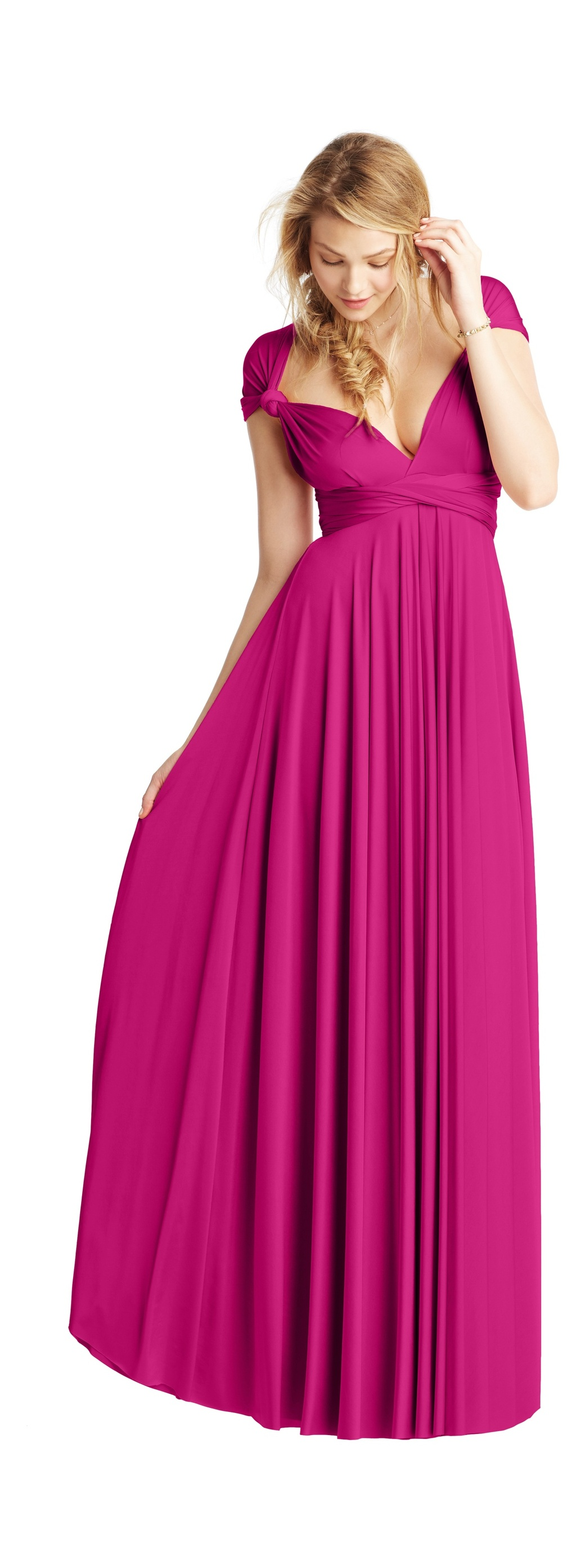Two Birds Bridesmaid Dress 2013 Weddings deep fuschia