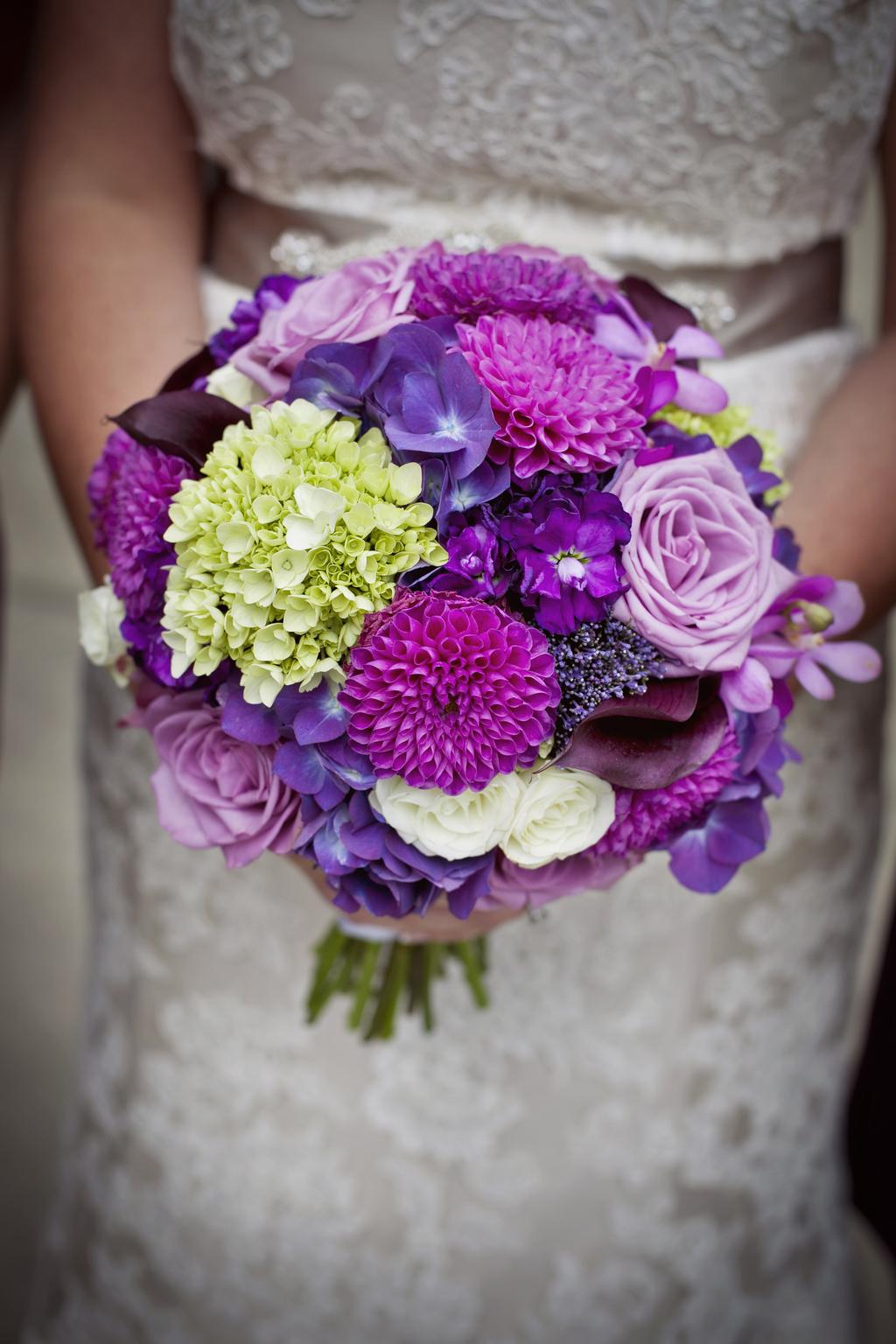 Bright fuschia bridal bouquet for Bright wedding bouquet