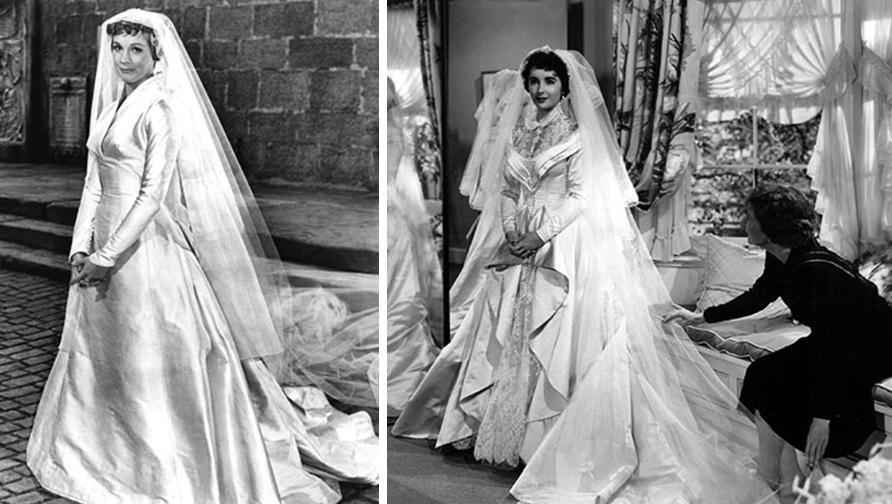 Julie Andrews And Elizabeth Taylor As Brides