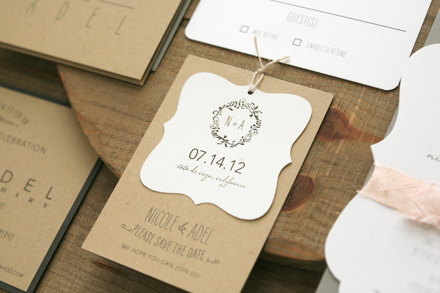 Rustic elegant wedding favor tags junglespirit Gallery