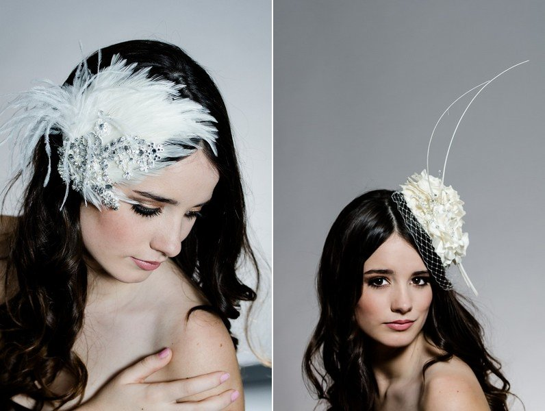 Fancy wedding fascinators and hats