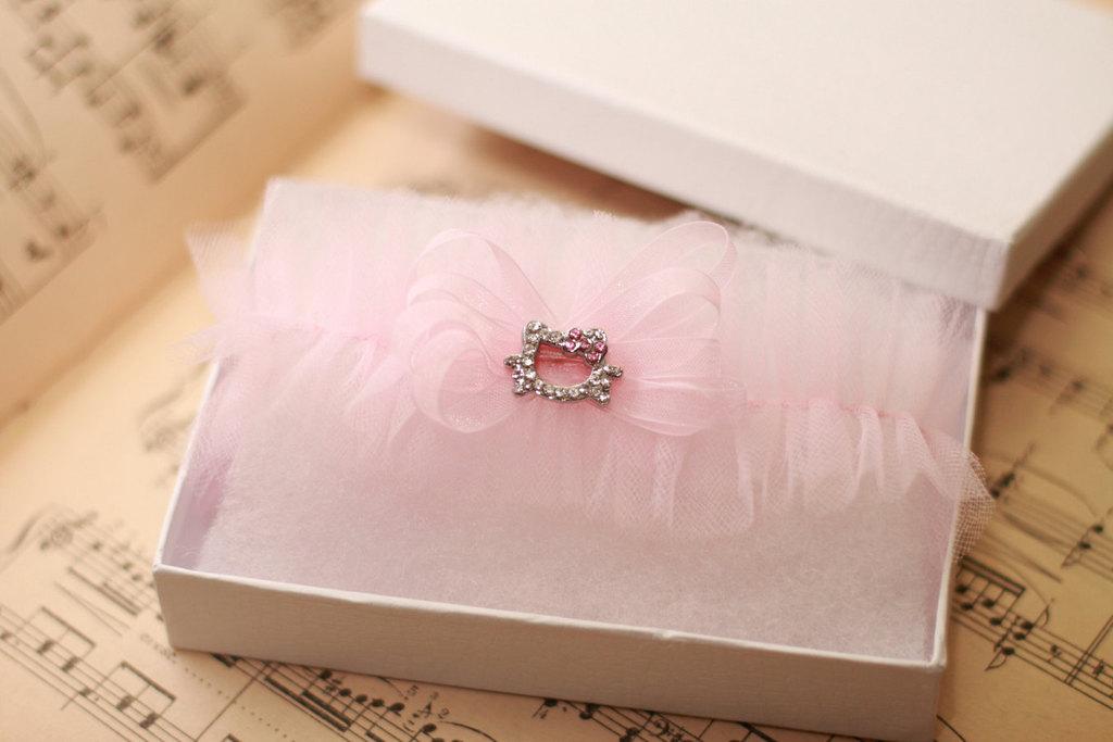 Light-pink-wedding-garter-with-hello-kitty-detail.full