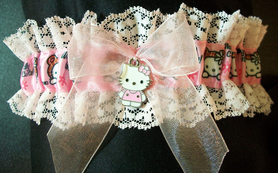 Lacy Hello Kitty Wedding Garter