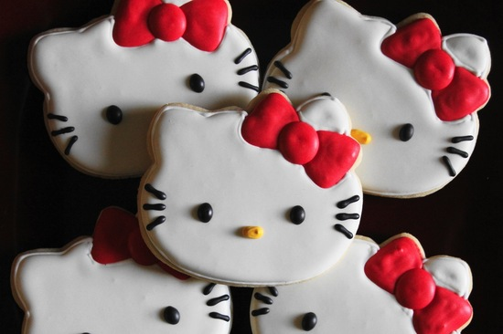 Hello Kitty Cookies for wedding guest favors