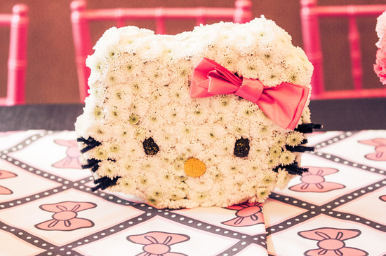 Hello Kitty Wedding Centerpiece