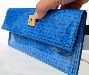 "photo of ""Don't Blink"" quote wallet by Etsy seller LitinPurse"