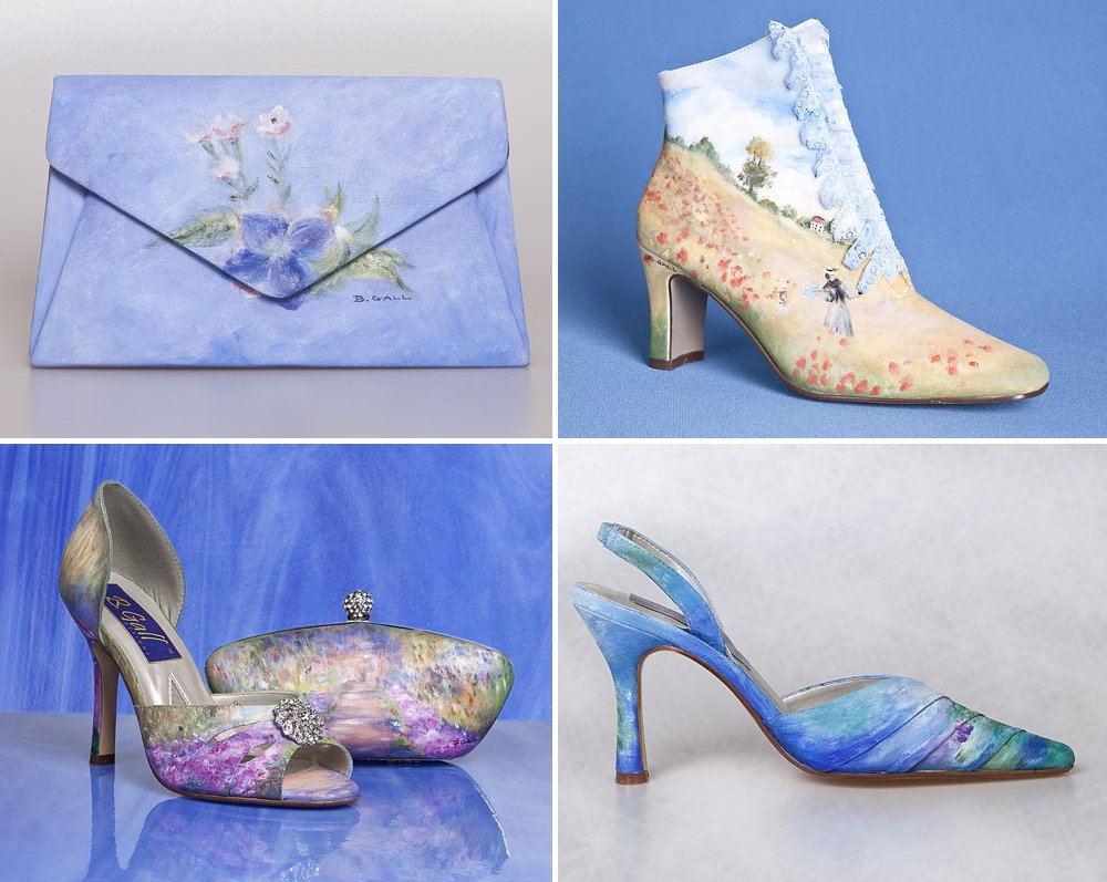 Watercolor-painted-wedding-shoes-and-purses.full