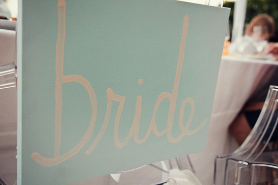 Handmade Bride Wedding Sign