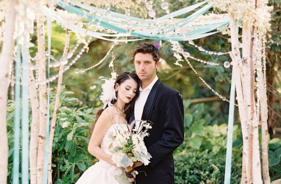 Enchanted wedding ceremony arbor