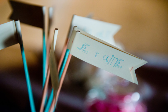 Unique wedding drink stirs French sweet sayings