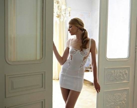photo of bridal lingerie fleur of england all white jasmine collection 1