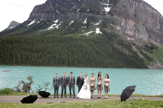 Picturesque backdrop for outdoor wedding reception
