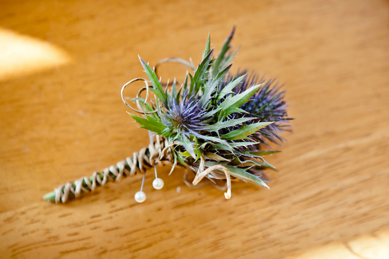 Eco rustic grooms boutonniere