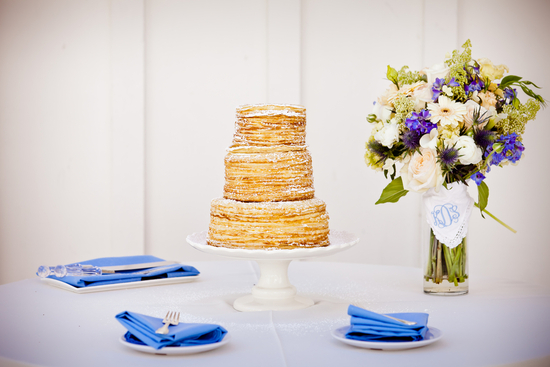 Layers of Crepes wedding cake