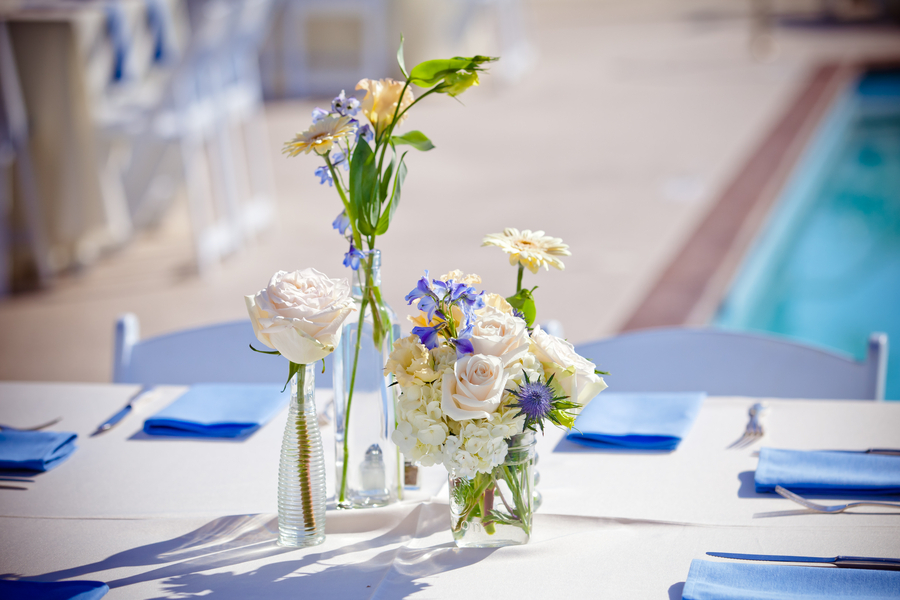 Simple elegant wedding reception centerpieces