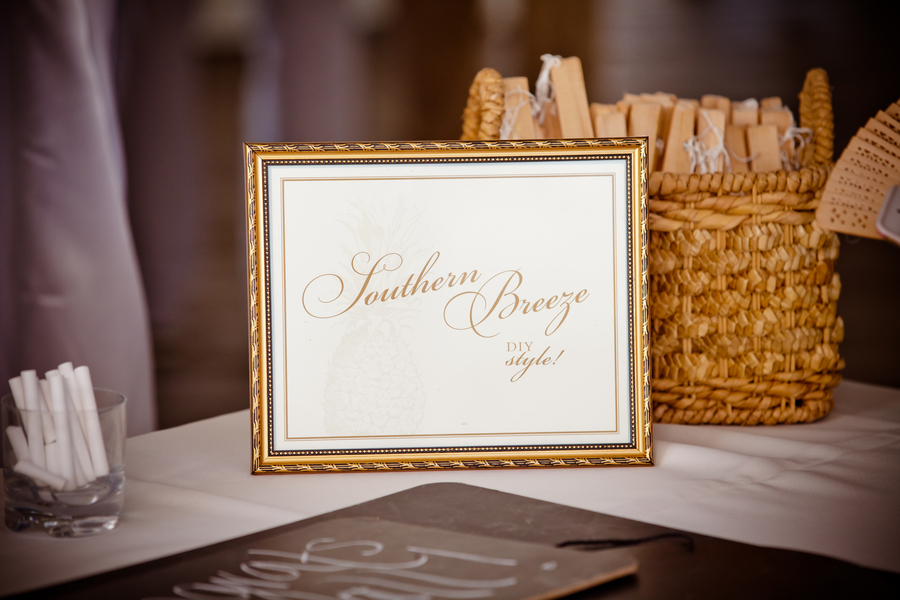 Southern Wedding Ideas DIY Fans At Reception