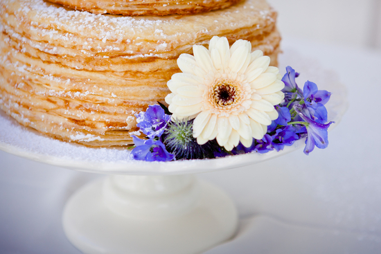 Wedding Cake Alternative Powder Sugar Crepes