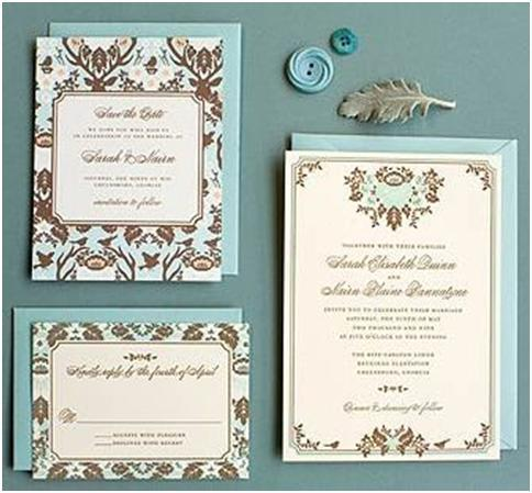 Hello!Lucky- Woodland Damask invitations