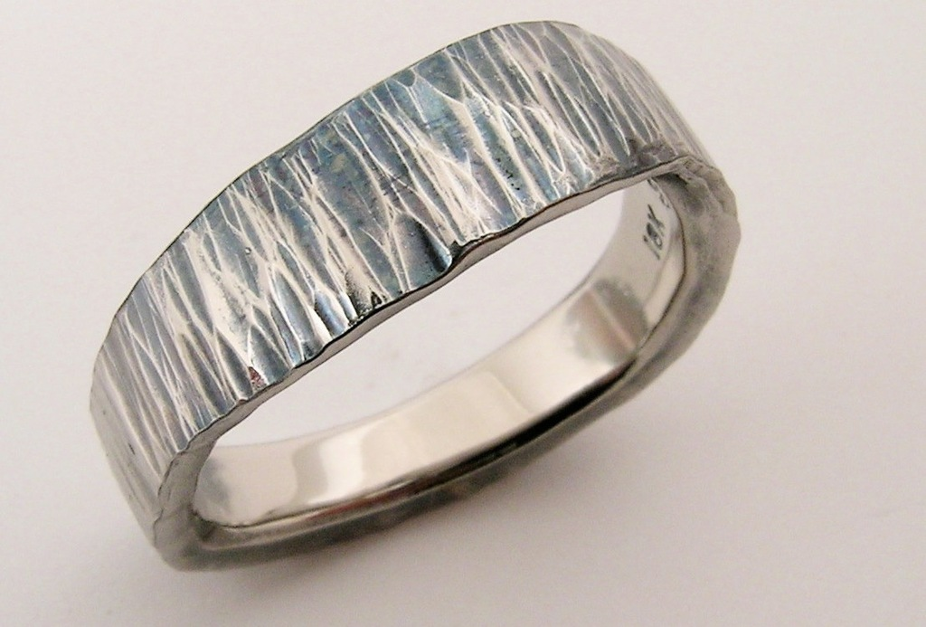 Handmade Sea Wave wedding band