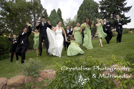 Show the fun of your outdoor wedding