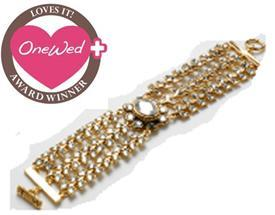 gold and stone three strand Amrita bracelet wins OneWed Loves It! award