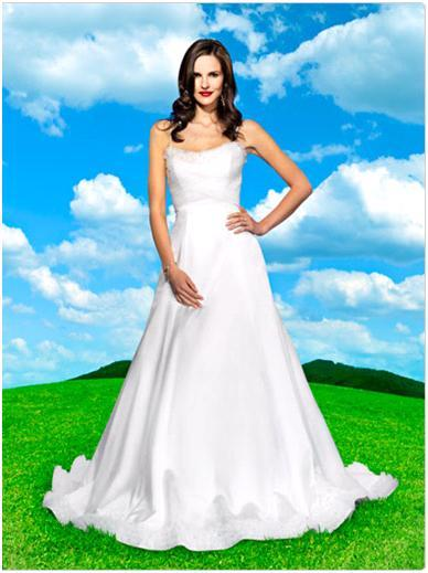 Disney's Snow White a-line duchess wedding dress