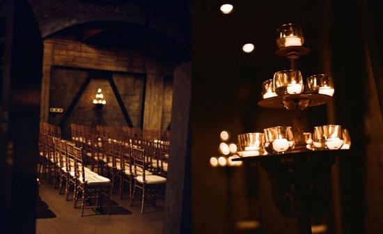 gorgeous, candlelit ceremony venue