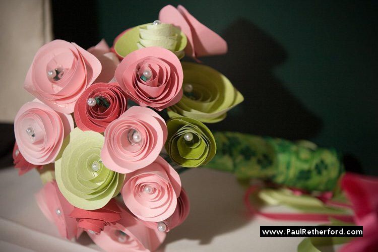 do it yourself paper wedding flower bouquet photo