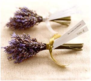 Lavender Mini Bouquets- Wedding Favor Place Cards