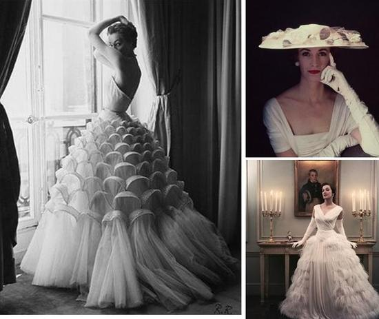 Gorgeous Vintage Wedding Dresses (circa 1950) from British Vogue