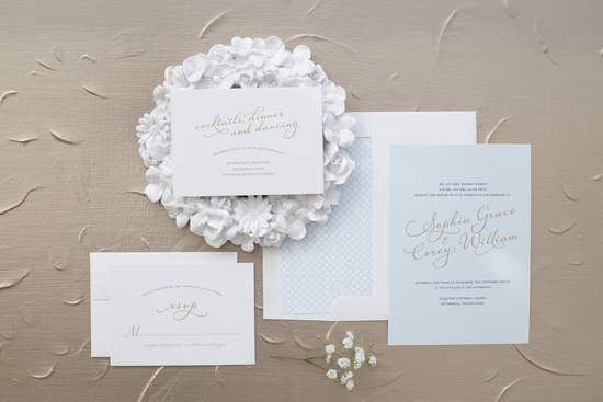 Pale Blue Wedding Invitations