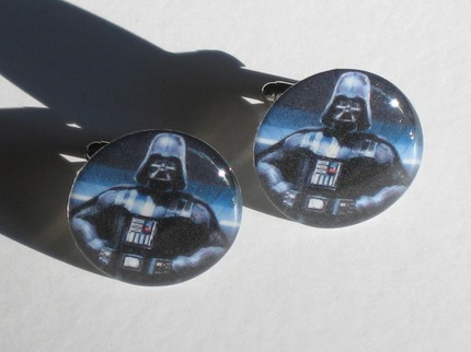 photo of Dark Side cufflinks from Esty
