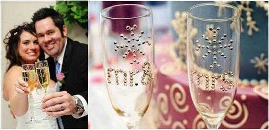 "Fun, Easy, DIY ""Mr. & Mrs."" Wedding Flutes"