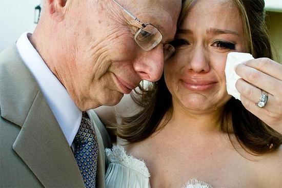 Bride and Father of the Bride get emotional on her wedding day