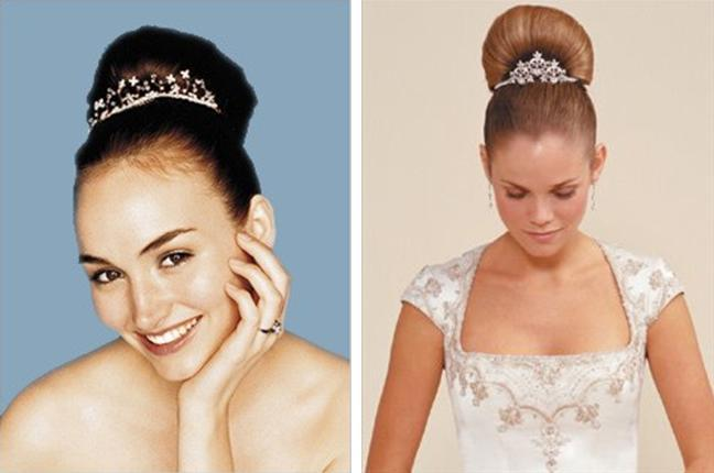 Crystal and rhinestone tiaras- perfect for the classic bride