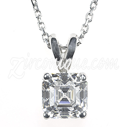 asscher bridesmaid pendant