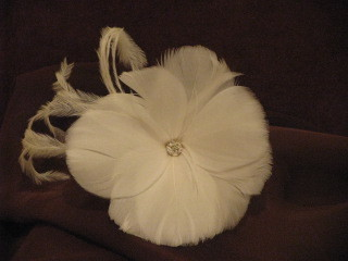 Breanna feather hairpin for the bride