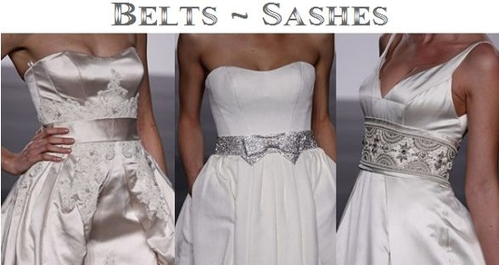 Trends for 2010 Wedding Dresses- Belts and Sashes
