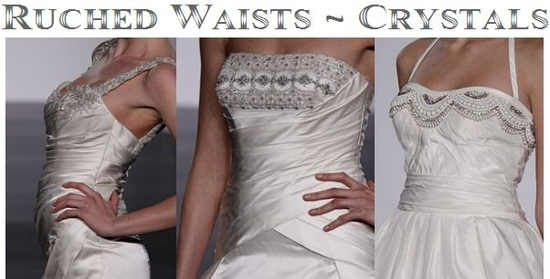 Trends for 2010 Wedding Dresses- Ruched Waists and Crystals