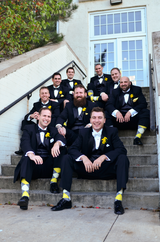 Black and Yellow Groomsmen