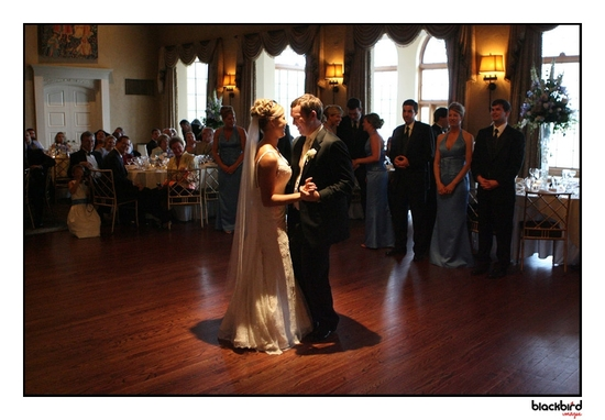First dance between the bride and groom after getting married