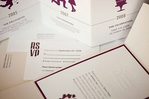 photo of Letterpress Wedding Invitations for Less