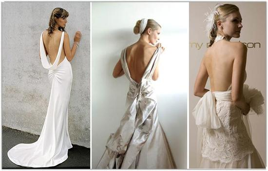 photo of Bubbly Bride: Wedding Dress Dramatic Backs
