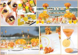 photo of Hostess with the Mostess: Splash of Color with a Citrus Wedding