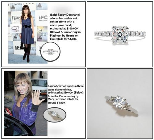 Celebs Zooey Deschanel and Karina Smirnoff flash their engagement ring bling